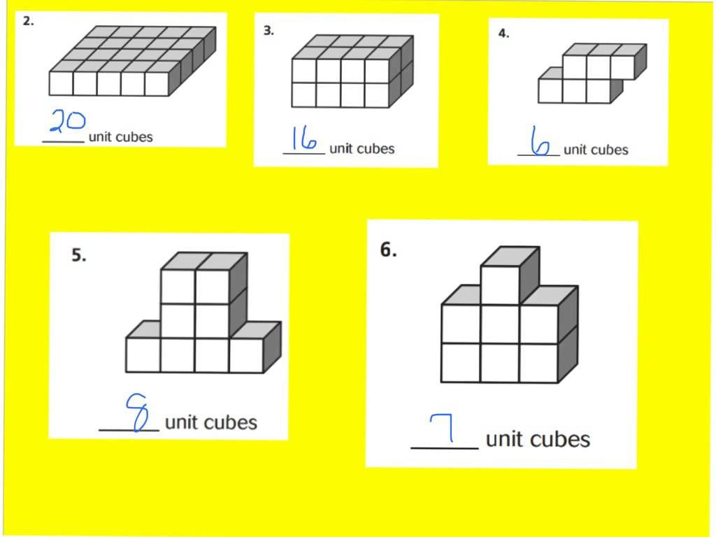 11 6 Unit Cubes And Solid Figures