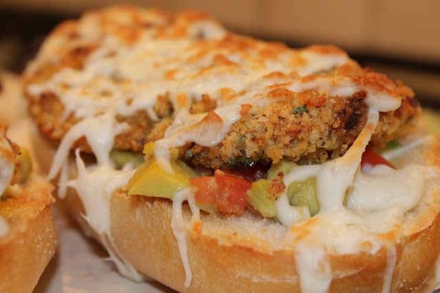 Ranch-Crusted Chicken and Avocado Melts
