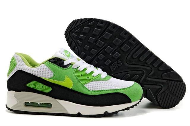 7abc27d4ec9efc Nike Air Max Shoes Nike Air Max 90 White Black Green Grey  Nike Air Max 90  - Stand out in any crowd with these Nike Air Max 90 White Black Green Grey  ...
