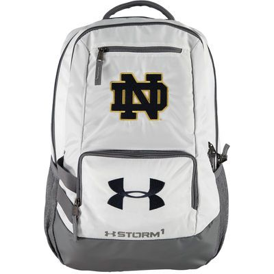 9f6dda9ce5 Under Armour White Notre Dame Fighting Irish Hustle II Backpack ...