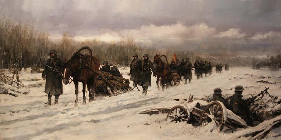'Que en Rusia están'. Obra de Augusto Ferrer-Dalmau
