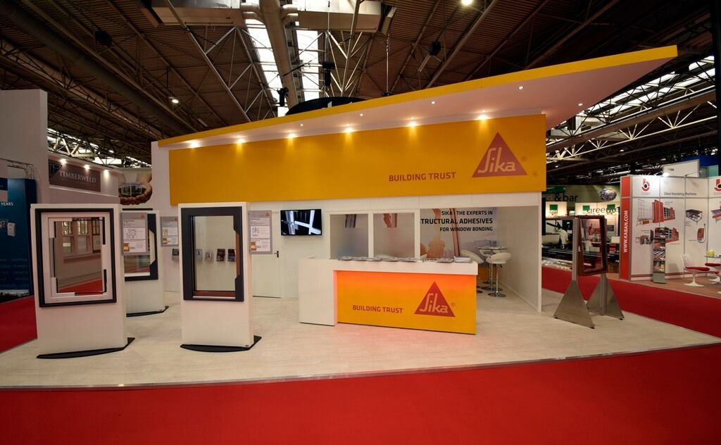 Exhibition Stand With Shelves : Exhibition stand at fit show sika limited stands sika en el