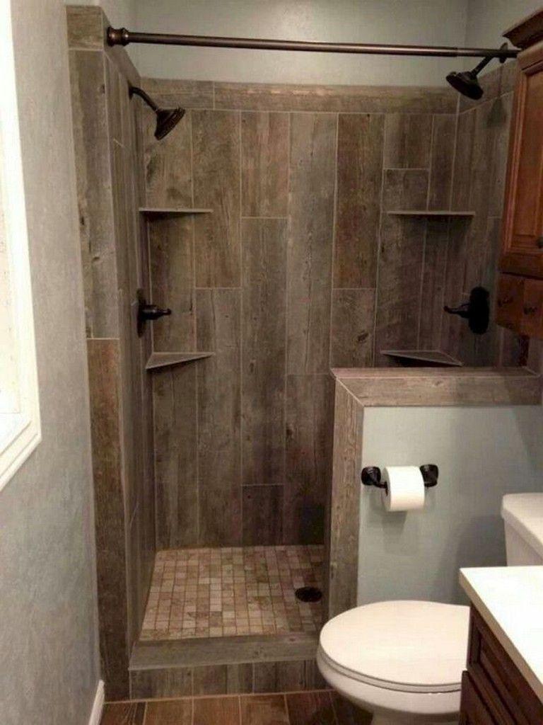 41 Cool Small Studio Apartment Bathroom Remodel Ideas Small Rustic Bathrooms Beautiful Small Bathrooms Rustic Bathrooms