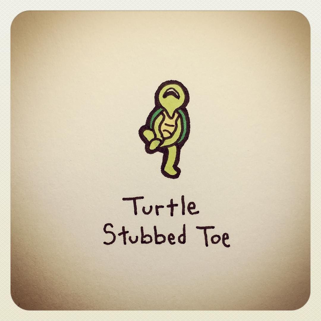 Turtle Stubbed Toe Turtle Pinterest Tortue Tortue Dessin And