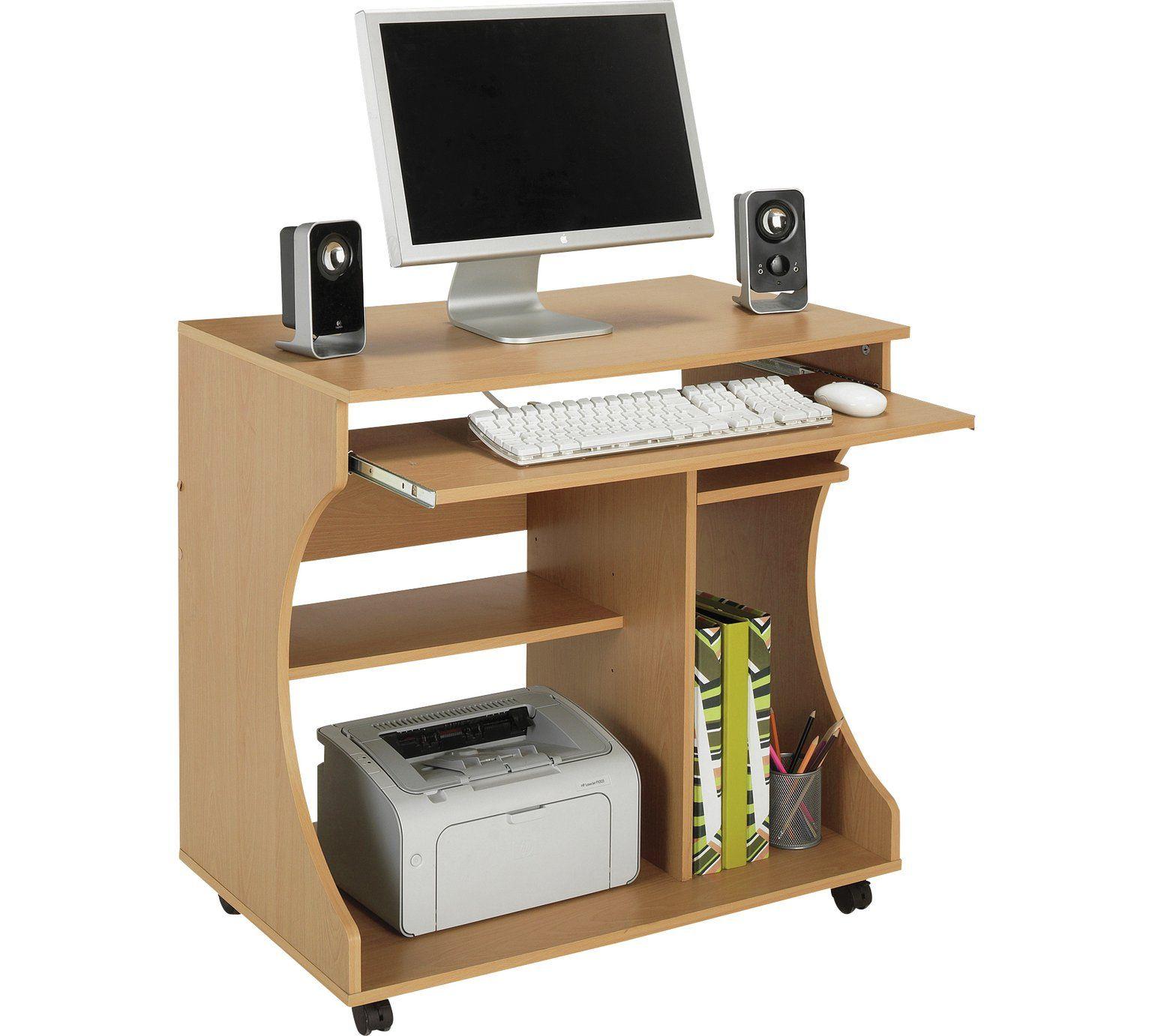 Buy Argos Home Computer Office Desk Beech Effect Desks
