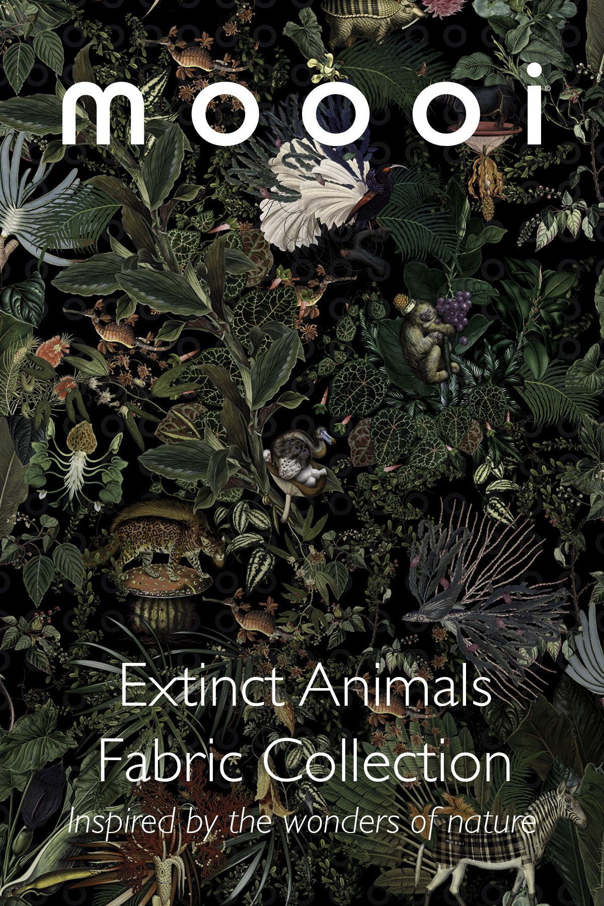 Newsletter Moooi Presents The Extinct Animals Fabric Collection