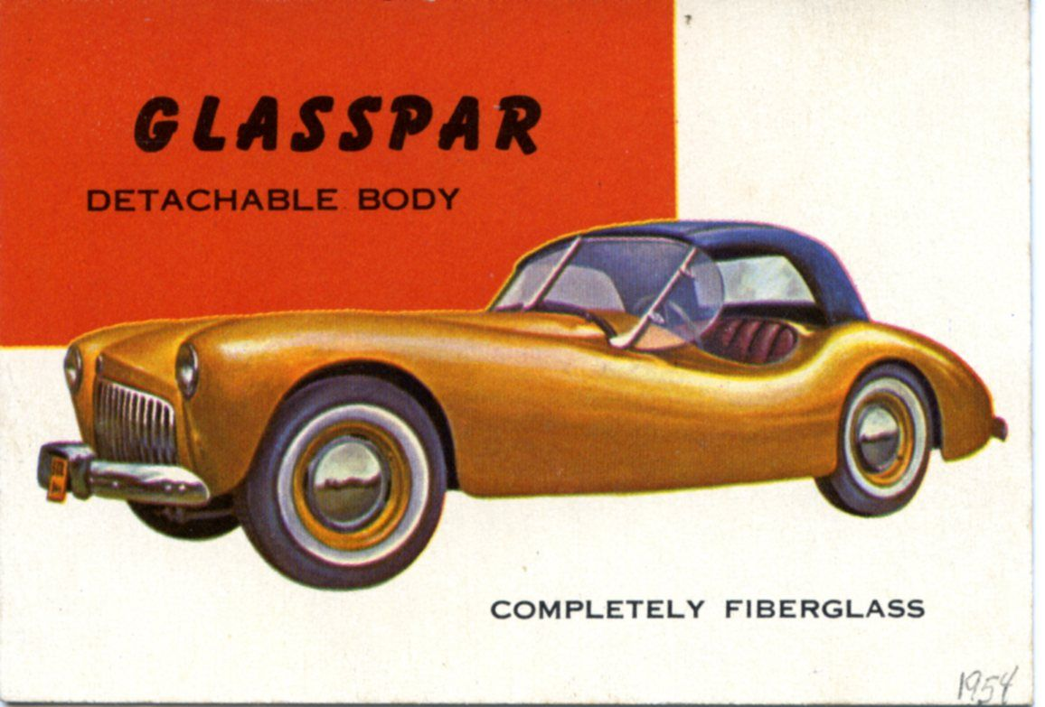The Glasspar G2 wasfirst manufactured by Bill Tritt in 1949.