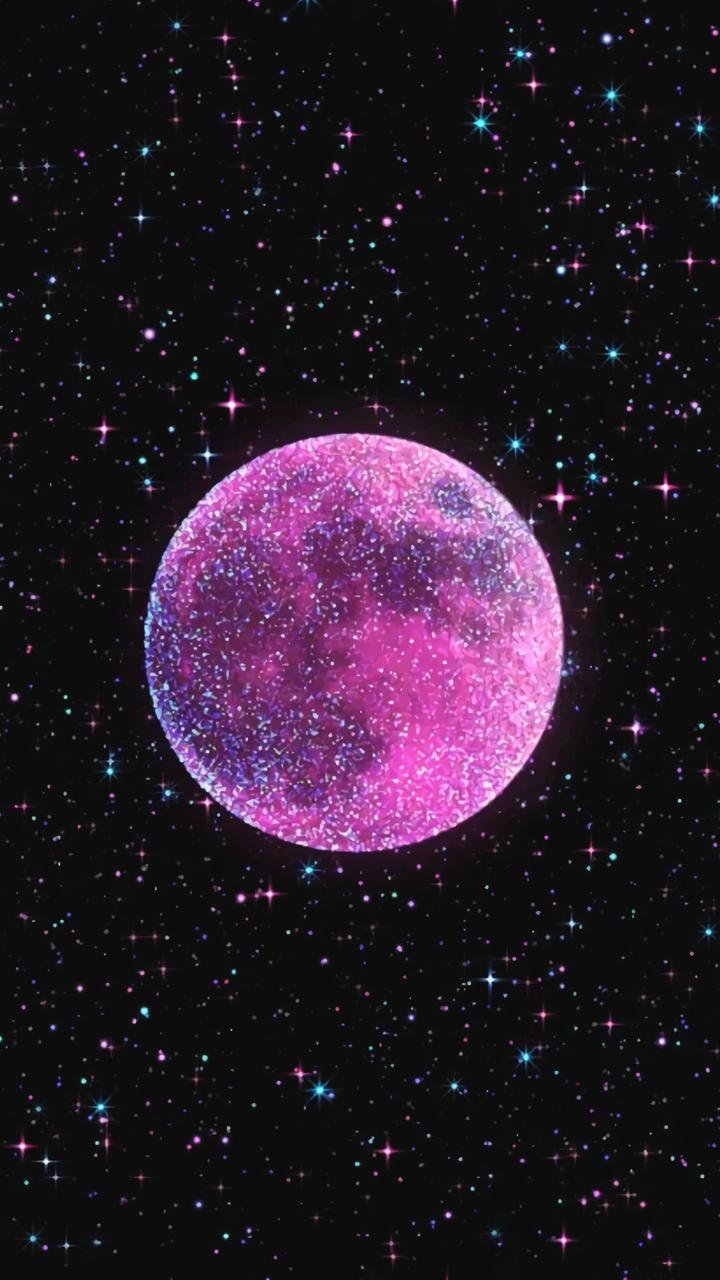 Pink Moon Wallpaper Heart Wallpaper Iphone Wallpaper