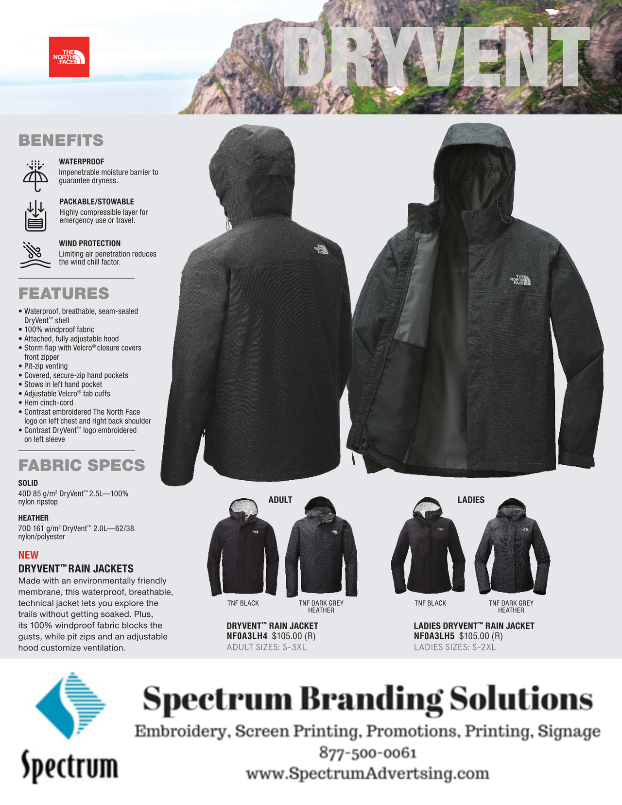 acbfda91d Pin by Spectrum Advertising on Promotional Merchandise | Waterproof ...