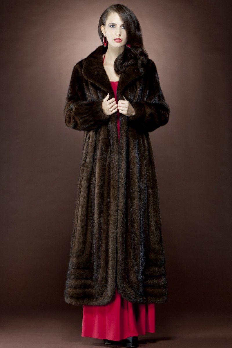 Mahogany Mink Fur Coat | www.mlfurs.com | Pinterest