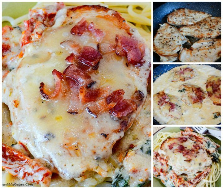 Bacon & Cheese Smothered Garlic Chicken! – My Incredible Recipes