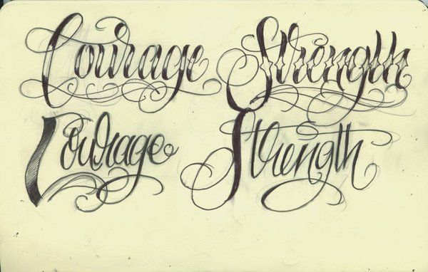 564852699 Courage and Strength lettering by 12KathyLees12.deviantart.com on @ deviantART