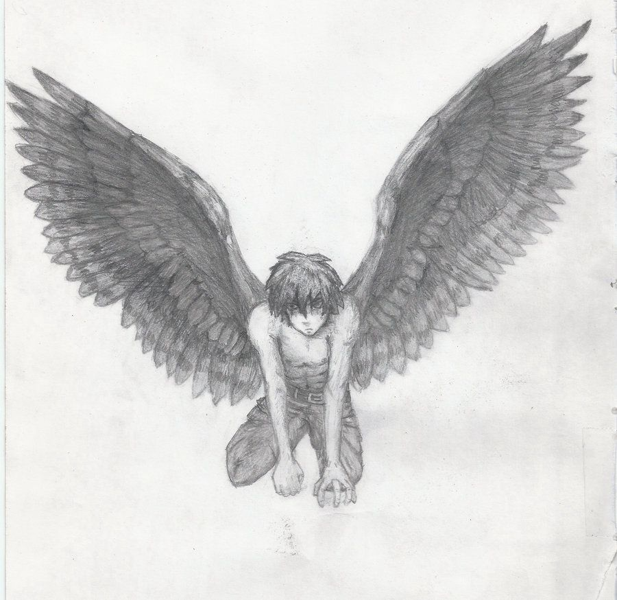 Anime Boy with Angel Wings | Angel Boy Dri by Aressian ...