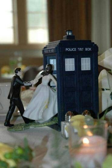Doctor Who Themed Wedding Cake Topper ~Doctor Who