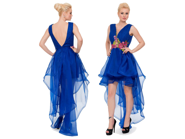 Saks Mavi Onu Kisa Arkasi Uzun Mezuniyet Elbisesi Aly6273 Uzun Mezuniyet Elbisesi The Dress Mezuniyet Elbisesi