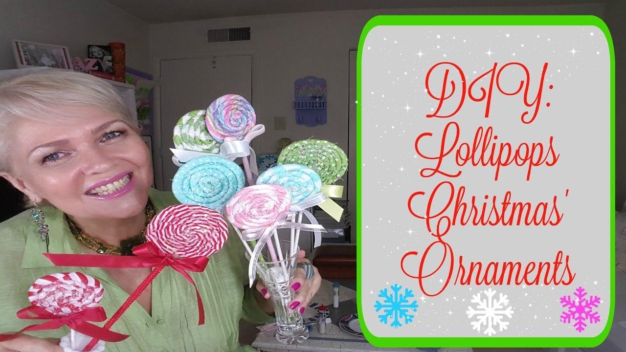 DIY Lollipops Christmas' Ornaments YouTube Diy