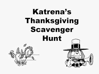 Katrena's Thanksgiving Scavenger Hunt with Rhyming Clues