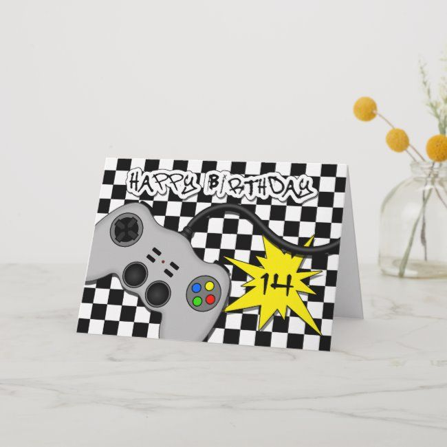 Video Game Controller Cute Teenager Birthday Card