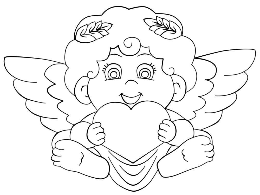 Дню гражданской, картинка ангелочка раскраска