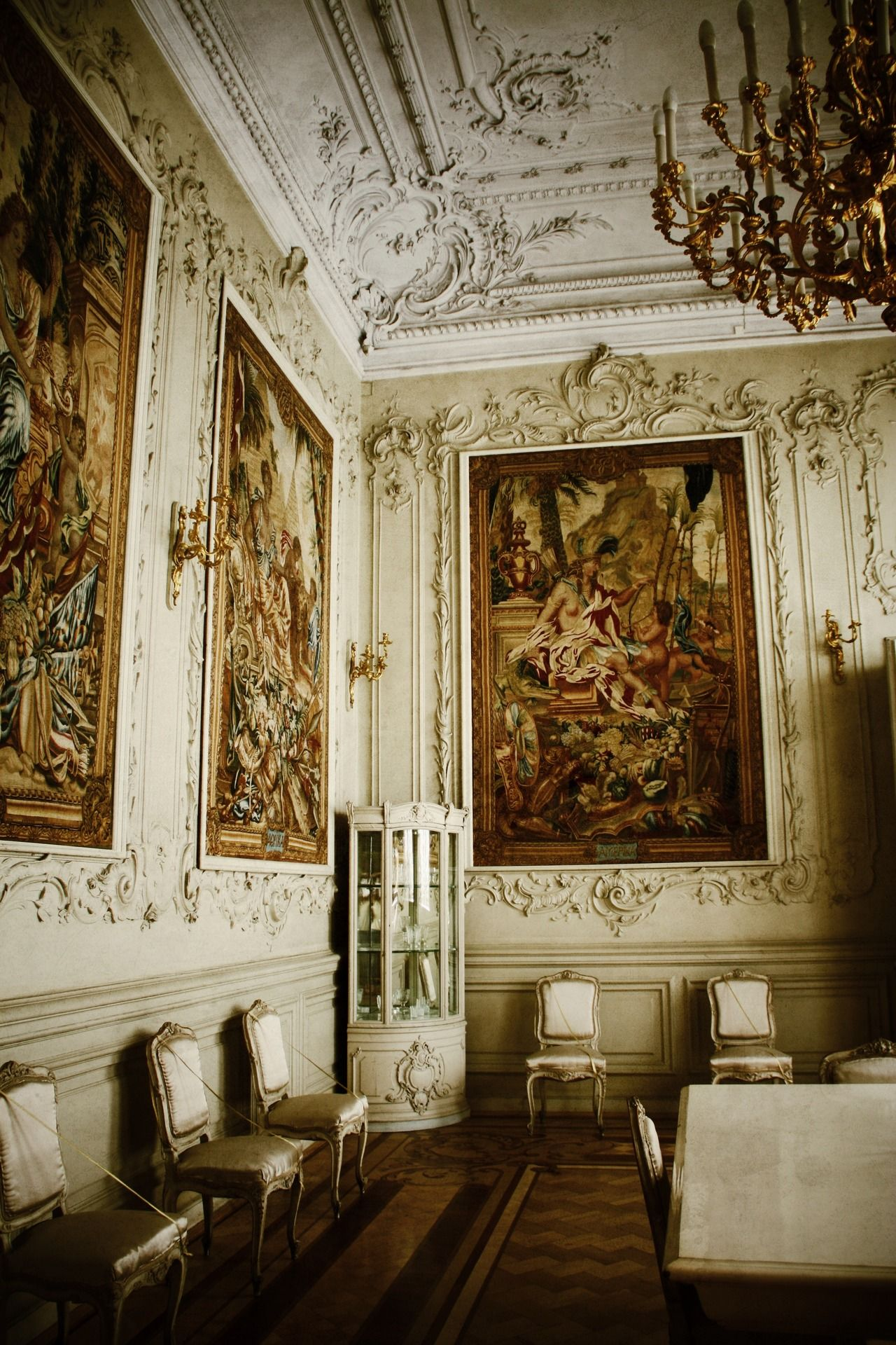 Interiors of Winter Palace Saint Petersburg Russia.