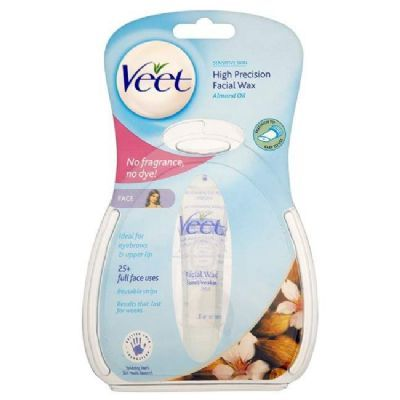 VEET High Precision Facial Wax. Small travel size tube for emergency waxing.