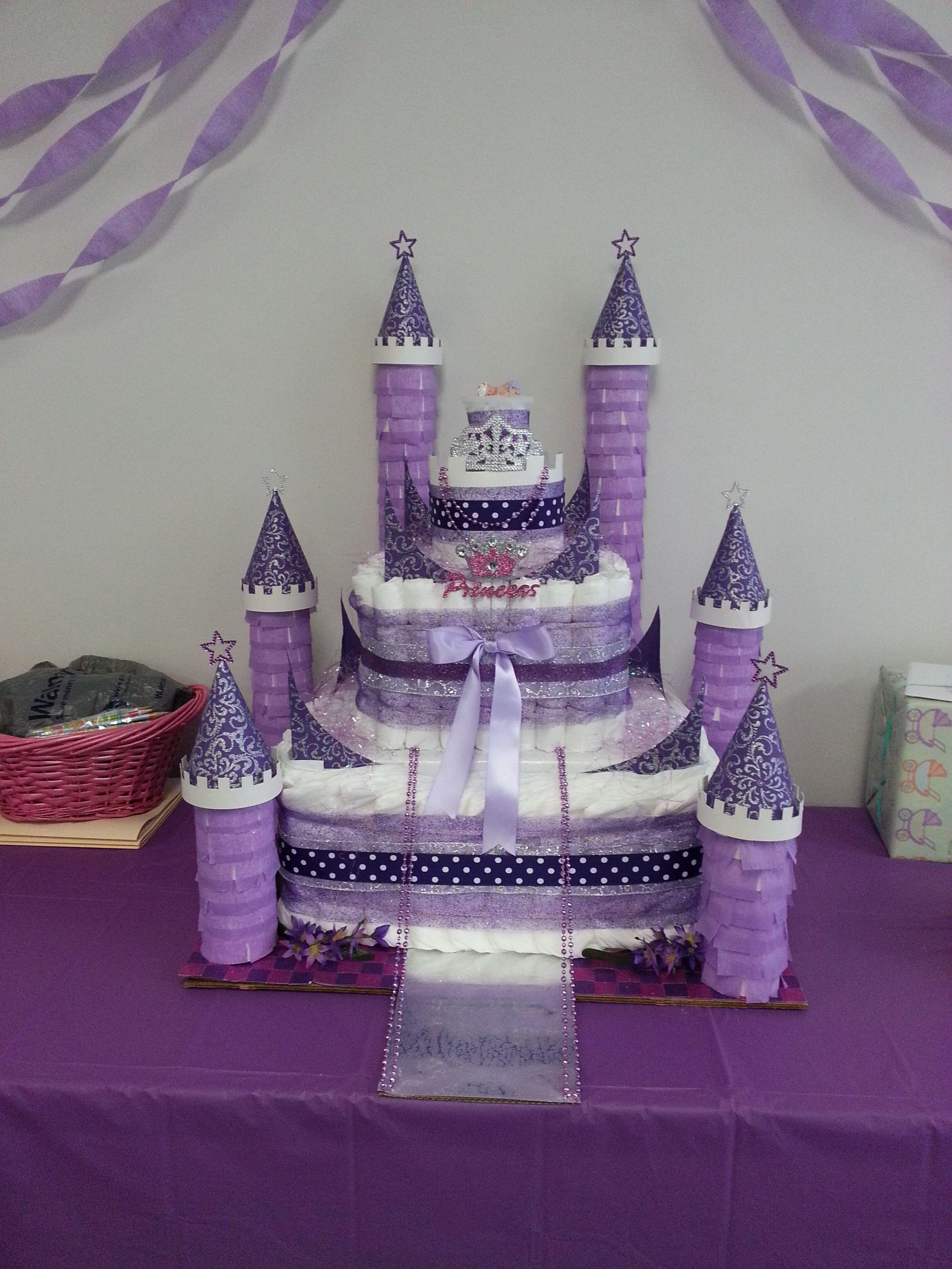Image result for diaper castle cake diaper castle