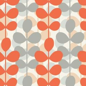 grey and orange shower curtain. The Wallpaper Company 8 in  x 10 Orange and Grey Retro Modern Leaf
