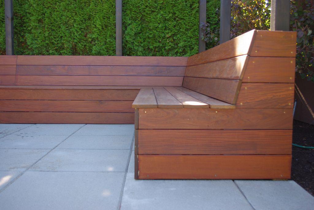 Kerasiotis Residence Built In Seating Backyard Seating Diy Bench Outdoor Outdoor Bench Seating