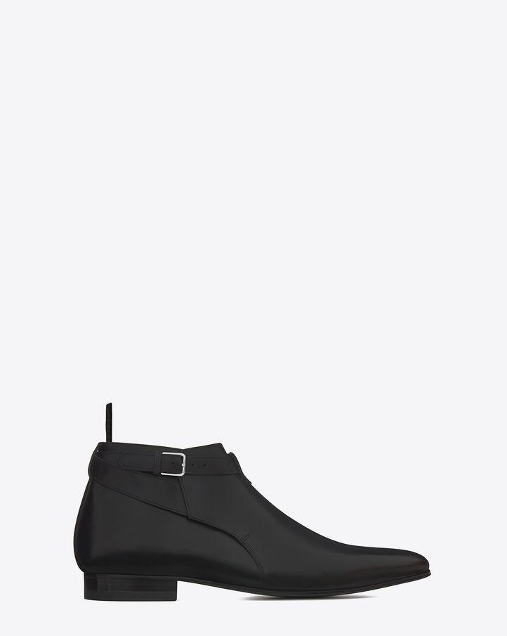 dc2a99ebda5 Saint Laurent Signature Jodhpur Cropped Boot In Black Leather | ysl.com