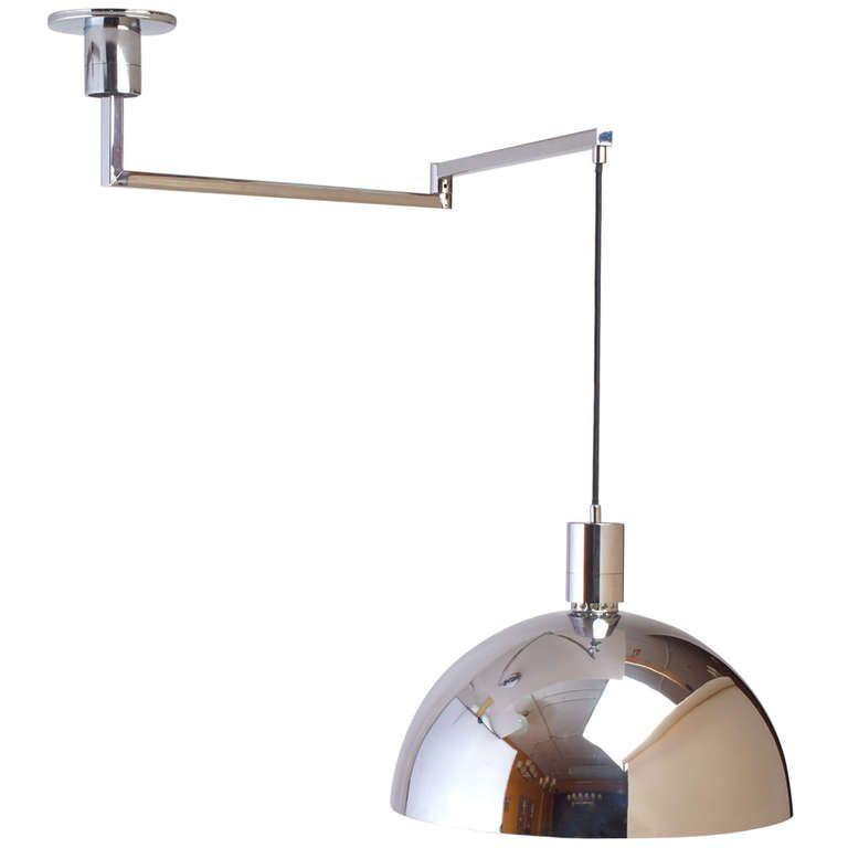 Modernist Swing Arm Ceiling Light By Franco Albini 1stdibs Com