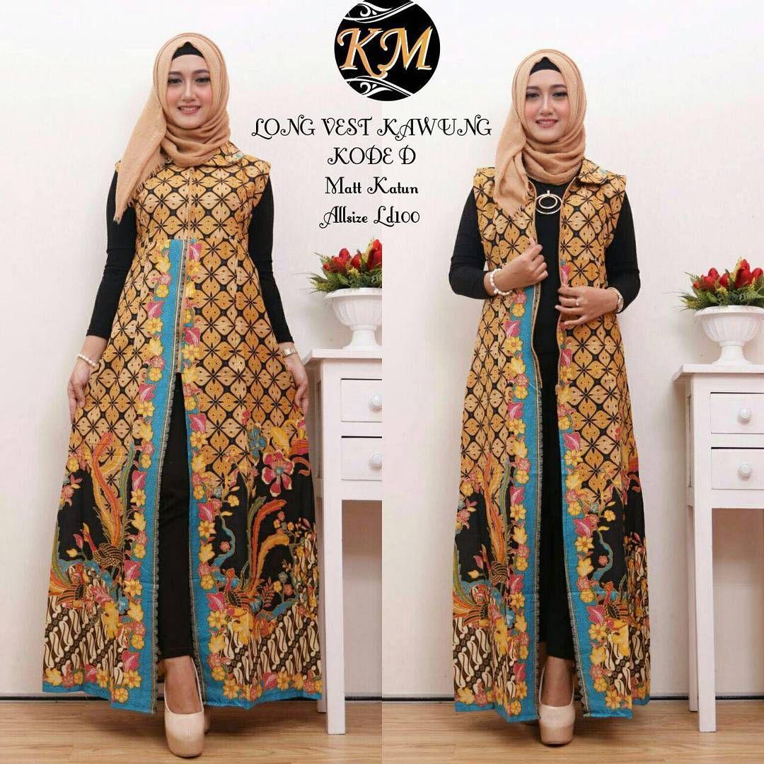 Model Busana Batik Wanita Terbaru  Wanita, Gaun lengan panjang