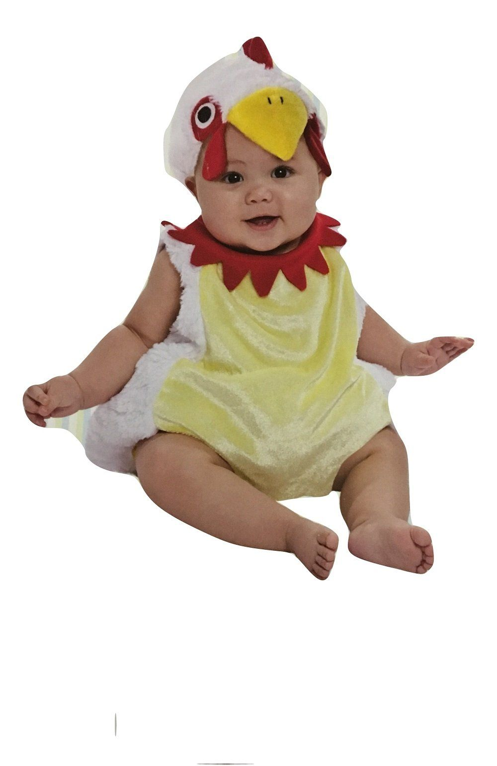 boo babies halloween costume chicken nugget sz 0 9 months 3 pieces white red - Boo Halloween Costumes