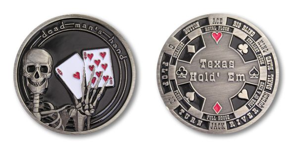 TEXAS Poker Card Guard Cover Protector Holder Casino Token Coin Chips Gold Gifts