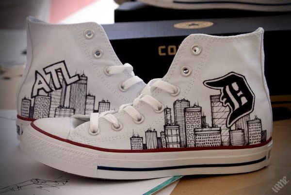 drawings on converse. so cool! | Studded converse, Converse