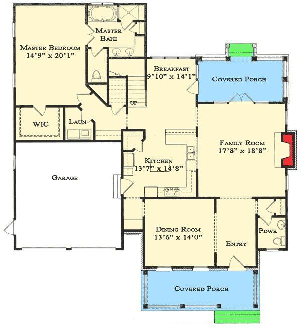 Plan 70007cw Beautiful First Floor Master Retirement House Plans Family House Plans House Plans