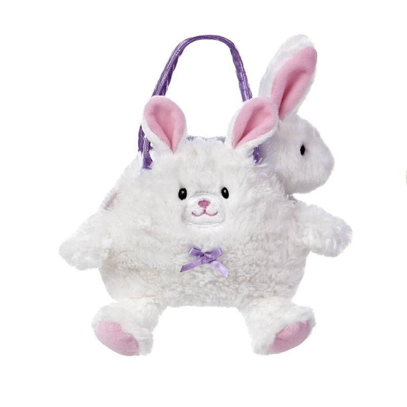 b9f70ab4fa72 Aurora Plush White Bunny Rabbit Pet Carrier Purse Easter Stuffed Animal Toy  NEW  Aurora