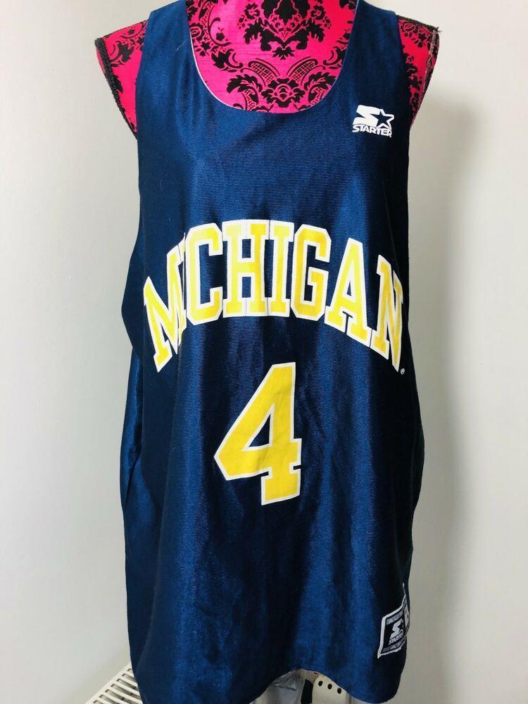 4159722acb35 Vintage Michigan Wolverines Reversible Basketball Shirt Vest Sportswear  Size L