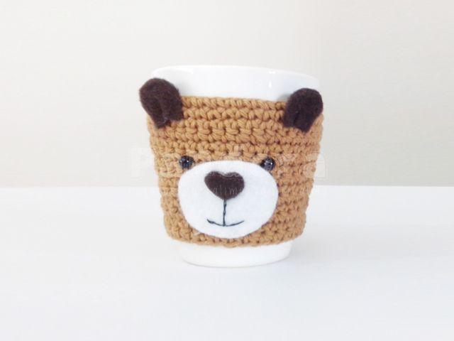 tazas decoradas con animalitos amigurumis crochet - Buscar con ...