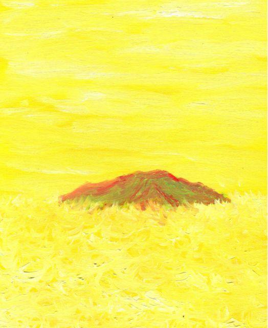 "Ref.06 Oleo Impresionista ""Otros Mundos Isla Intraterrena"" de Tomas Morilla Massieu URL http://myworld.ebay.es/morilla_massieu"
