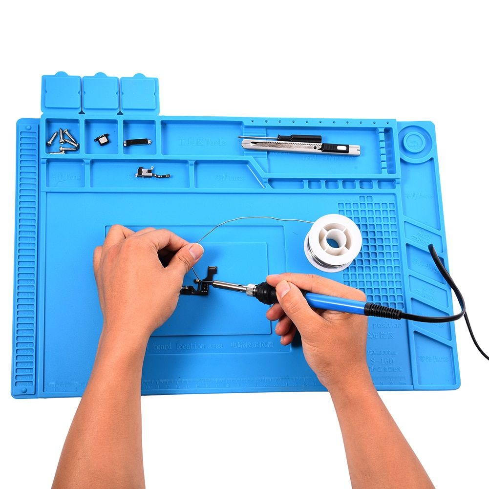 Silicone Heat Insulation Desk Pad Mat Soldering Station Phone Repair Maintenance