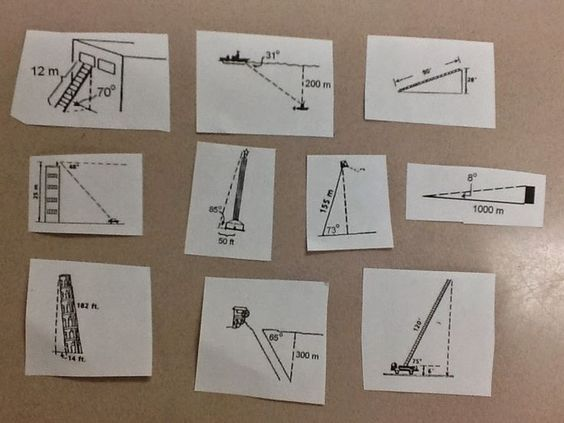 Trig Word Problems   Geometry worksheets, Geometry lessons ...