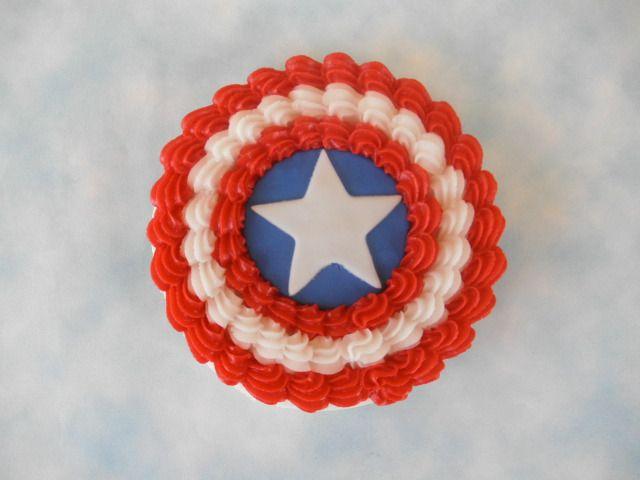 Simple captain America birthday cake