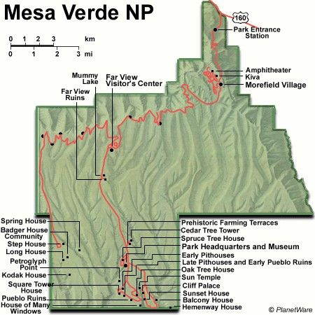 Mesa Verde National Park Colorado Map Exploring The Top