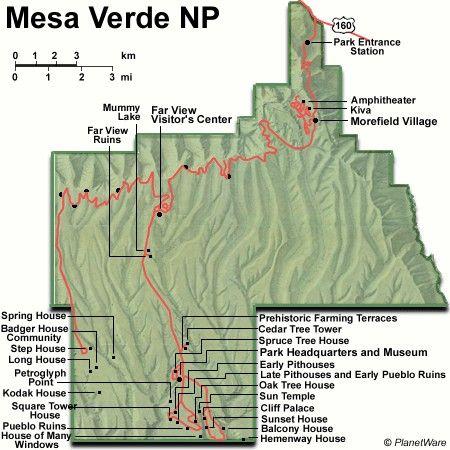 mesa verde national park, colorado map | Exploring the Top ...