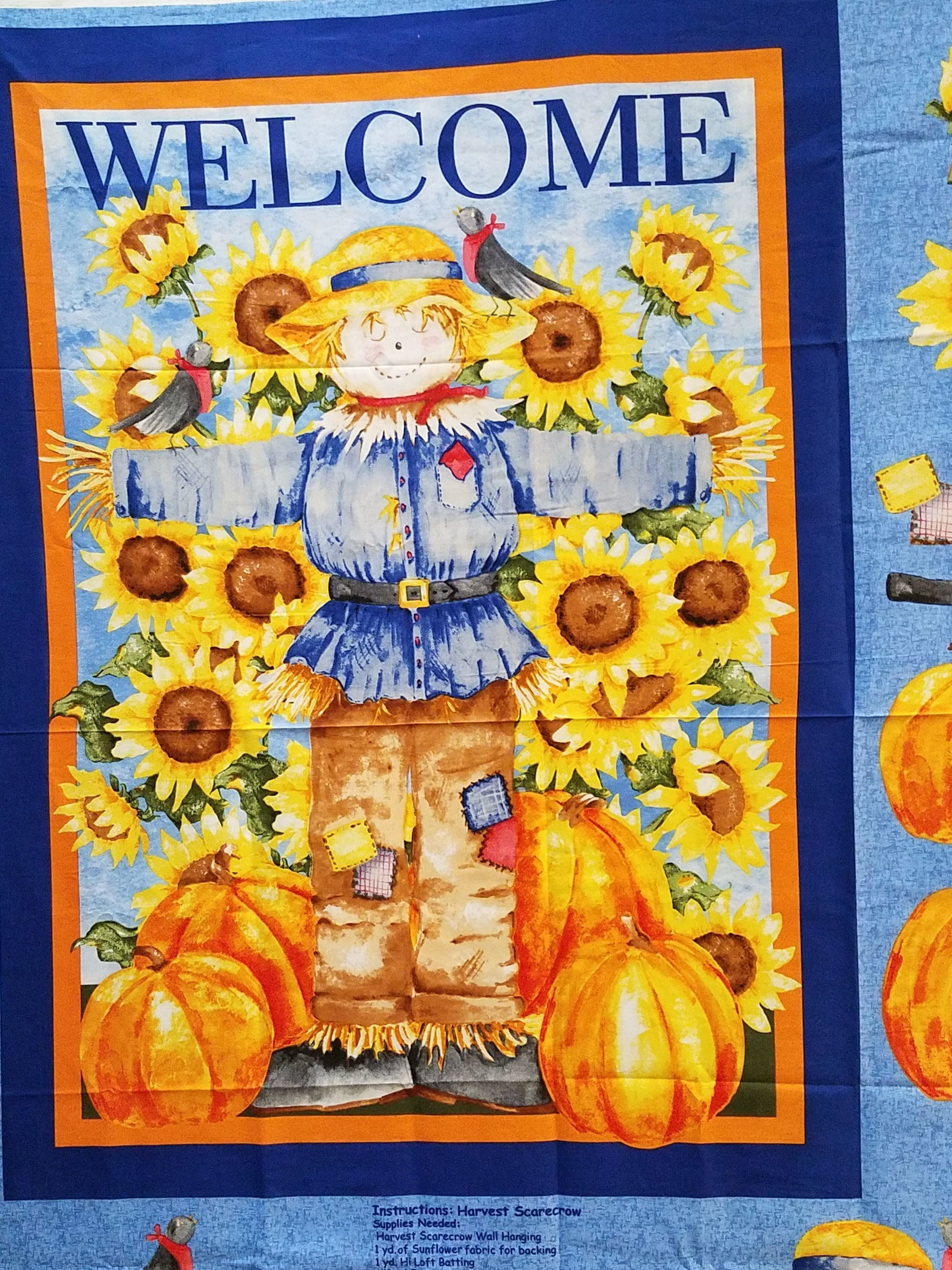 Scarecrow Wallhanging Panel by Kathy Hatch for Concord — Quilted Twins