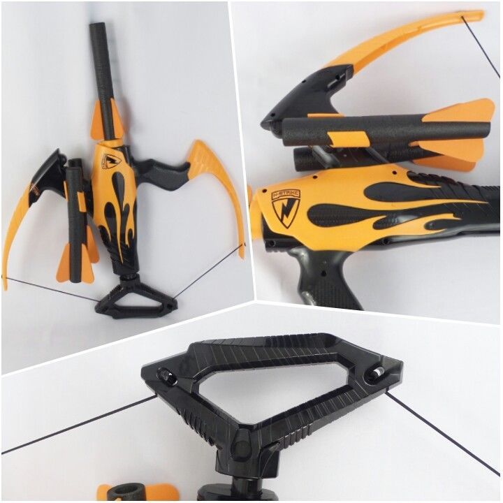 Nerf N-Strike Blazin' Bow Blaster Soft Dart Gun Giant Mega Crossbow Arrows