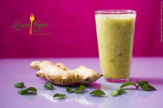 Suco De Abacaxi Banana Gengibre E Hortela Receita Com Imagens