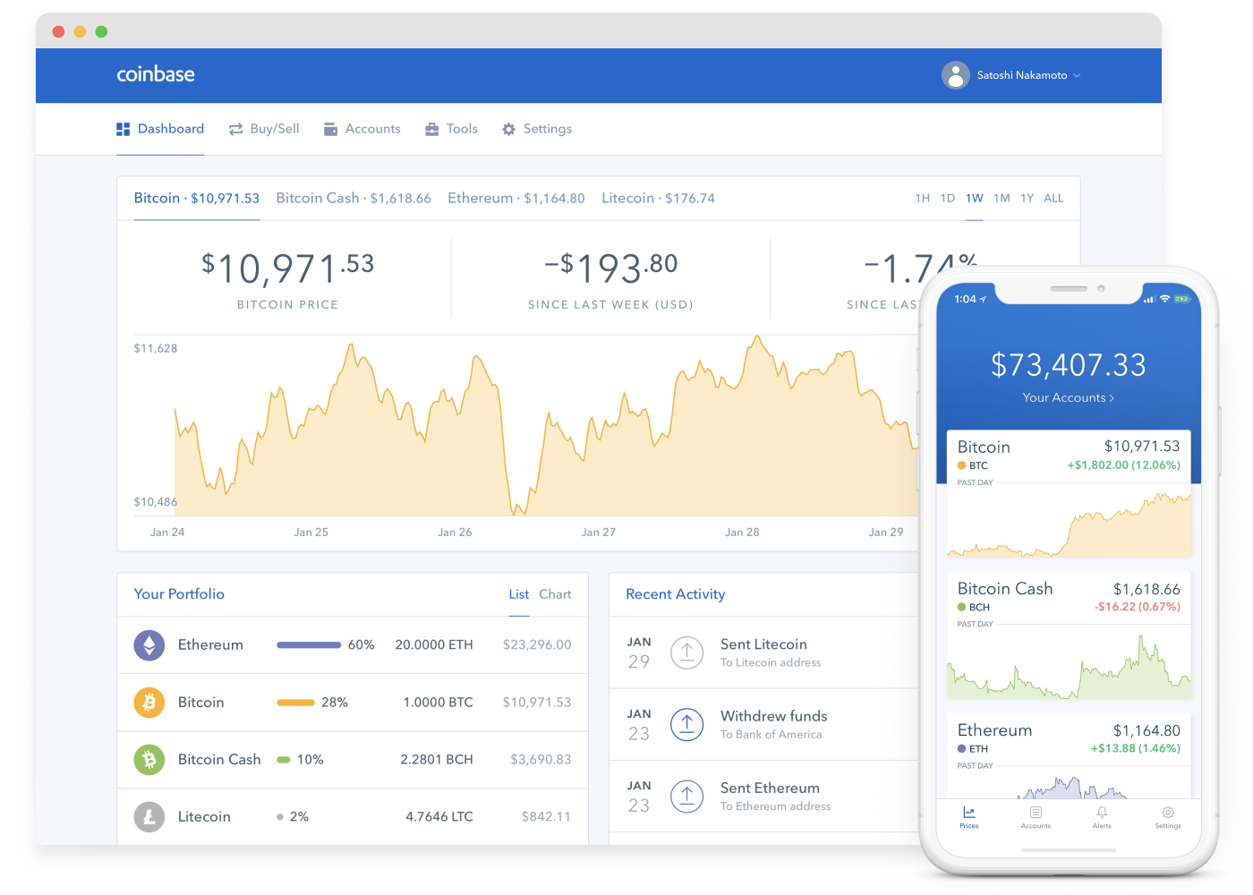 what cryptocurrency does coinbase sell