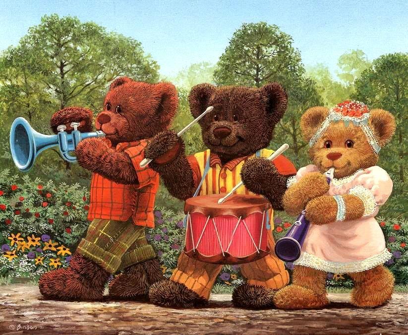 аренде комнат картинка марширующий медвежонок зря, среди байкеров