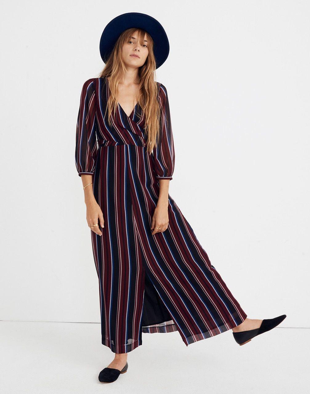 Wrap Around Maxi Dress In Stockdale Stripe In 2019